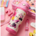 Lovely Minnie & Mickey Mouse Stainless Steel Water Bottle Thermos Cup Vacuum Flask for kids - 400ml with Name Card On the Strap