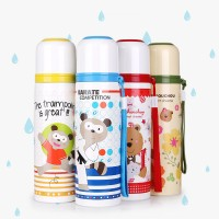 Pinkah Bear Stainless Steel Water Bottle Thermos Cup Vacuum Flask - 470ml