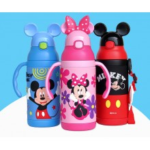 3D Mickey and Minnie Mouse Stainless Steel Water Bottle Thermos Cup Vacuum Flask for Kids – 400ml