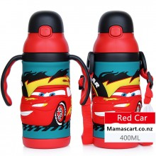 3D Red Car Stainless Steel Water Bottle Thermos Cup Vacuum Flask for Kids – 400ml