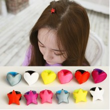 Colorful Star /  Love Heart Hair Claw Hair Clips Set - 6 pcs