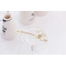 Delicate Pearl Shell Hair Pin Crystal Clip