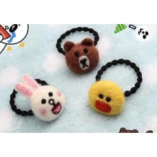 Cute Little Bear/Chicken/Rabbit Plush Hair Tie 1PC