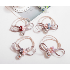 Elegant  Lady Flower Diasy Ribbon Hair Tie Band With Metal Ball
