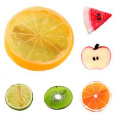 Cute Fruit Orange Apple Lime Lemon Pattern Hair Tie Summer Style Ponytail Holder Band